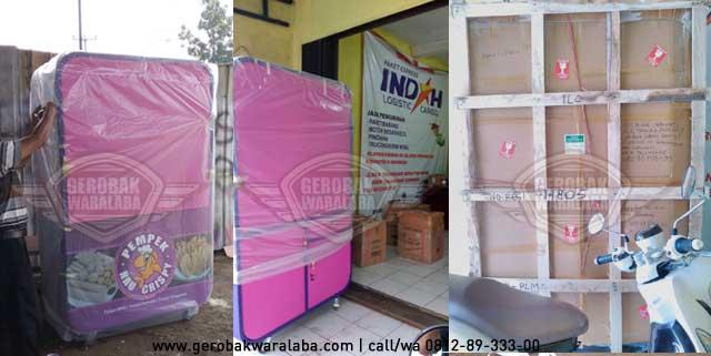 pengiriman indah cargo dengan packing kayu
