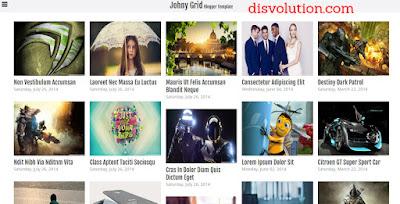 Template Jhony Grid Terbaru 2017 Seo Responsive Download Gratis