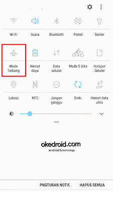 Notification Shade > Mode Terbang samsung galaxy j5 2016 android nougat