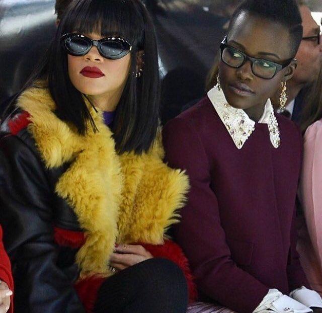 Rihanna et Lupita Nyong'o