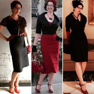 Vintage 1950s Versatile Black Dupioni Suit - Daytime, Evening, Everytime Many Ways with Gail Carriger
