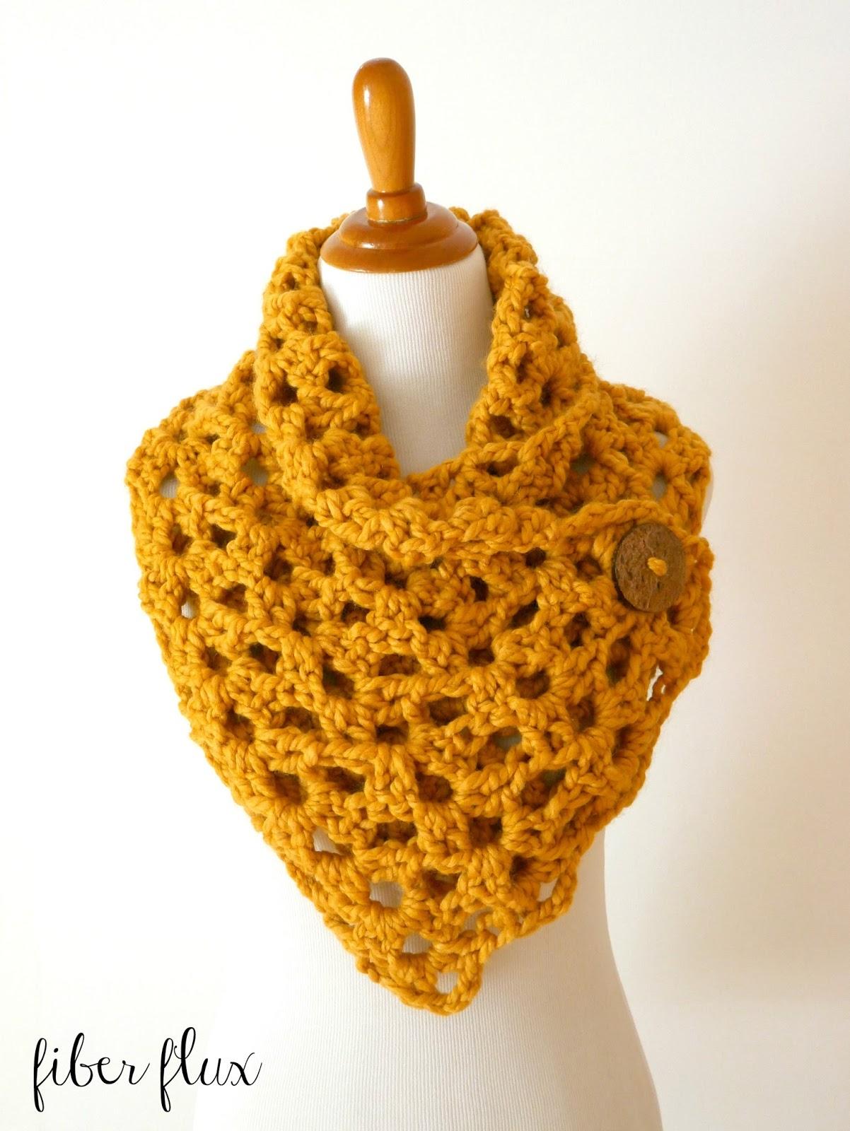 Free Crochet Patterns Button Cowl : Fiber Flux: Free Crochet Pattern...Autumn Morning Button Cowl!