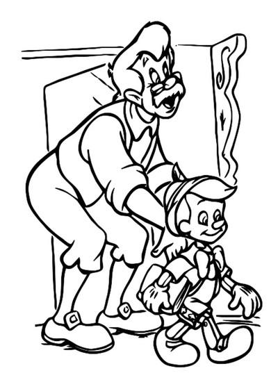 Girotondo Di Bimbi Pinocchio Da Colorare