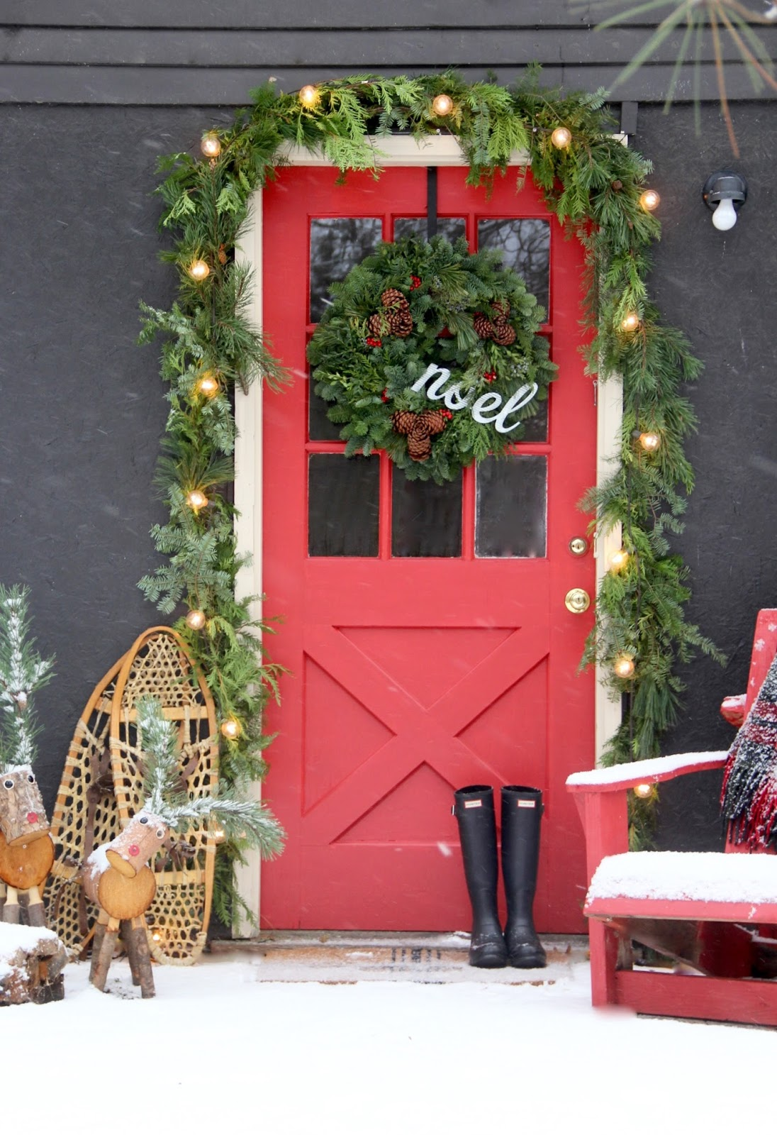 now that youve seen the outside of the blog cabin come inside out of the snow storm and warm up with a cup of coffee or hot cocoa if youre a kid - Decorating Adirondack Chairs For Christmas