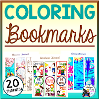 coloring pages bookmarks