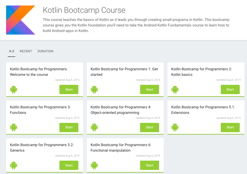 New! Android Kotlin codelab courses are here