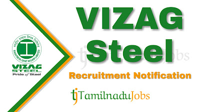 VIZAG Steel Recruitment notification 2019, Govt jobs for mechanical engineer, govt jobs for electrical engineer