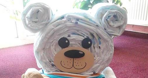 Favorit Sonny´s Bastelspaß: Windel - Teddybär FN36