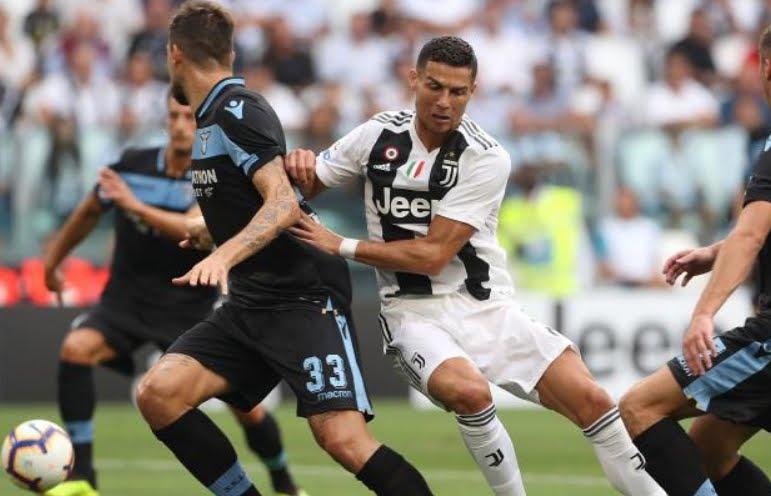 LAZIO JUVENTUS Streaming Rojadirecta, dove vederla: 0-0 risultato 1° tempo, brutta Juve.