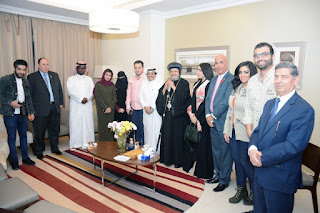 امين عام المهرجان العربي للإعلام السياحي يلتقي الأنبا مرقس في الرياض