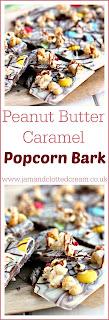 Peanut Butter Caramel Popcorn Bark