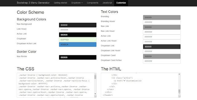 Tạo navbar với Bootstrap 3 cho blogspot