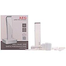 AEG HSM/R 5638 - Cortapelos para cabello y barba, batería recargable, color blanco