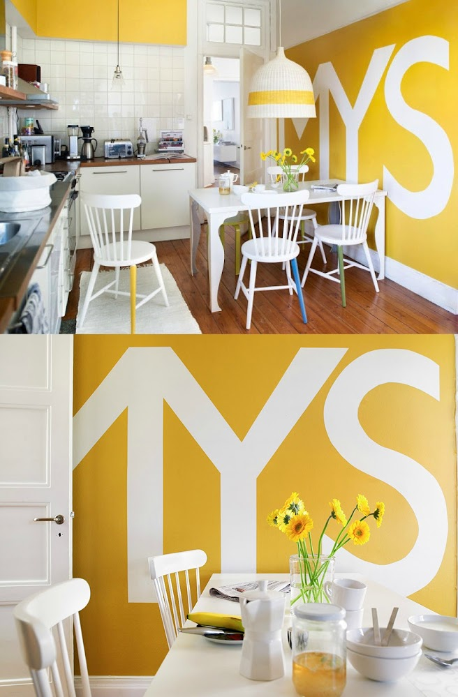 yellow-kitchen-typography-wall