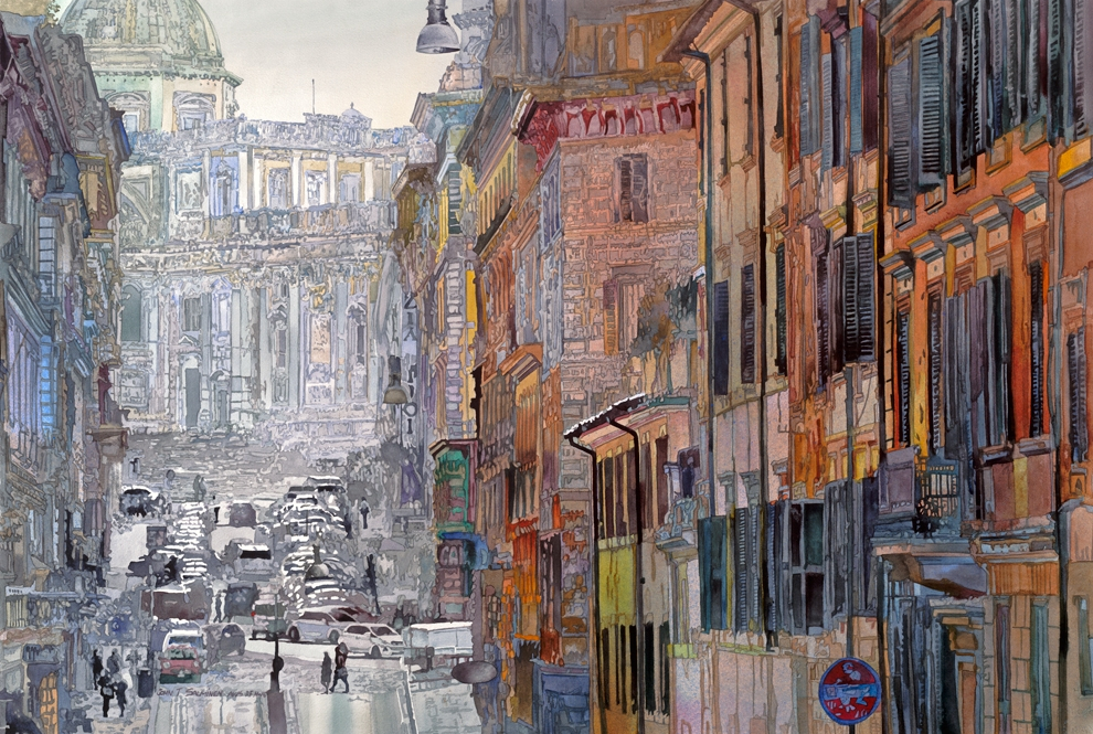 17-Roma-John-Salminen-Watercolor-Paintings-Taking-Glimpses-into-our-Life-www-designstack-co