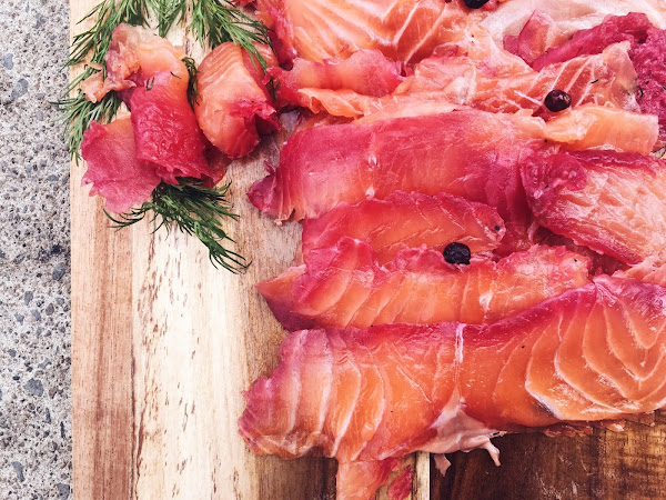 Gravlax de saumon au gin