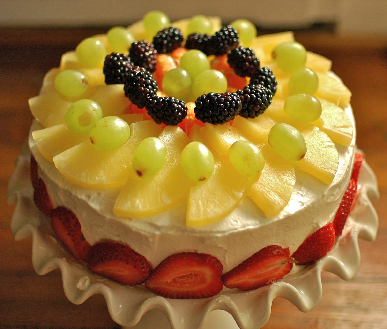 TurtleCraftyGirl: Sponge Fruit Cake