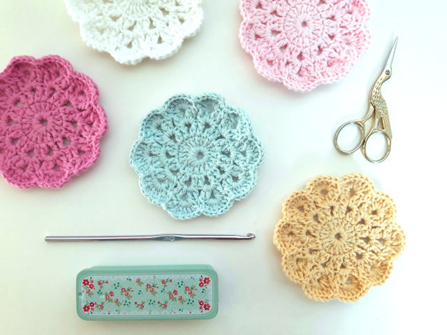 7 posavasos DIY, crochet