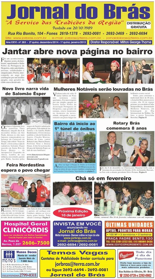 Destaques da Ed. 263 - Jornal do Brás