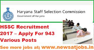 HSSC-Recruitment-2017– 943-post