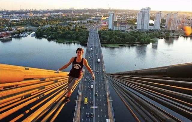 Taking Selfies at Height of the Bridges