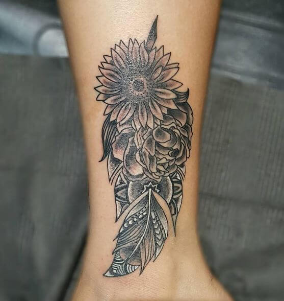 79cf57247020d Tatoos Flower With Feather | Gardening: Flower and Vegetables