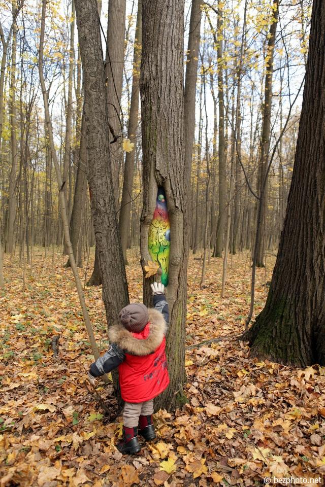 рисунки на деревьях фото