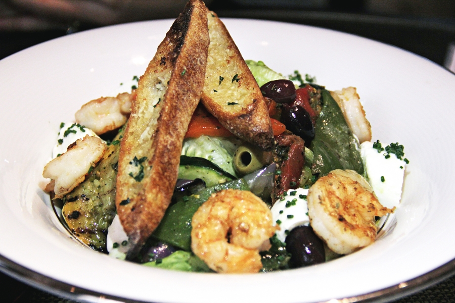 bread salad shrimp