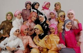 Cara Tips Memadukan Model Hijab dengan Kebaya Muslim