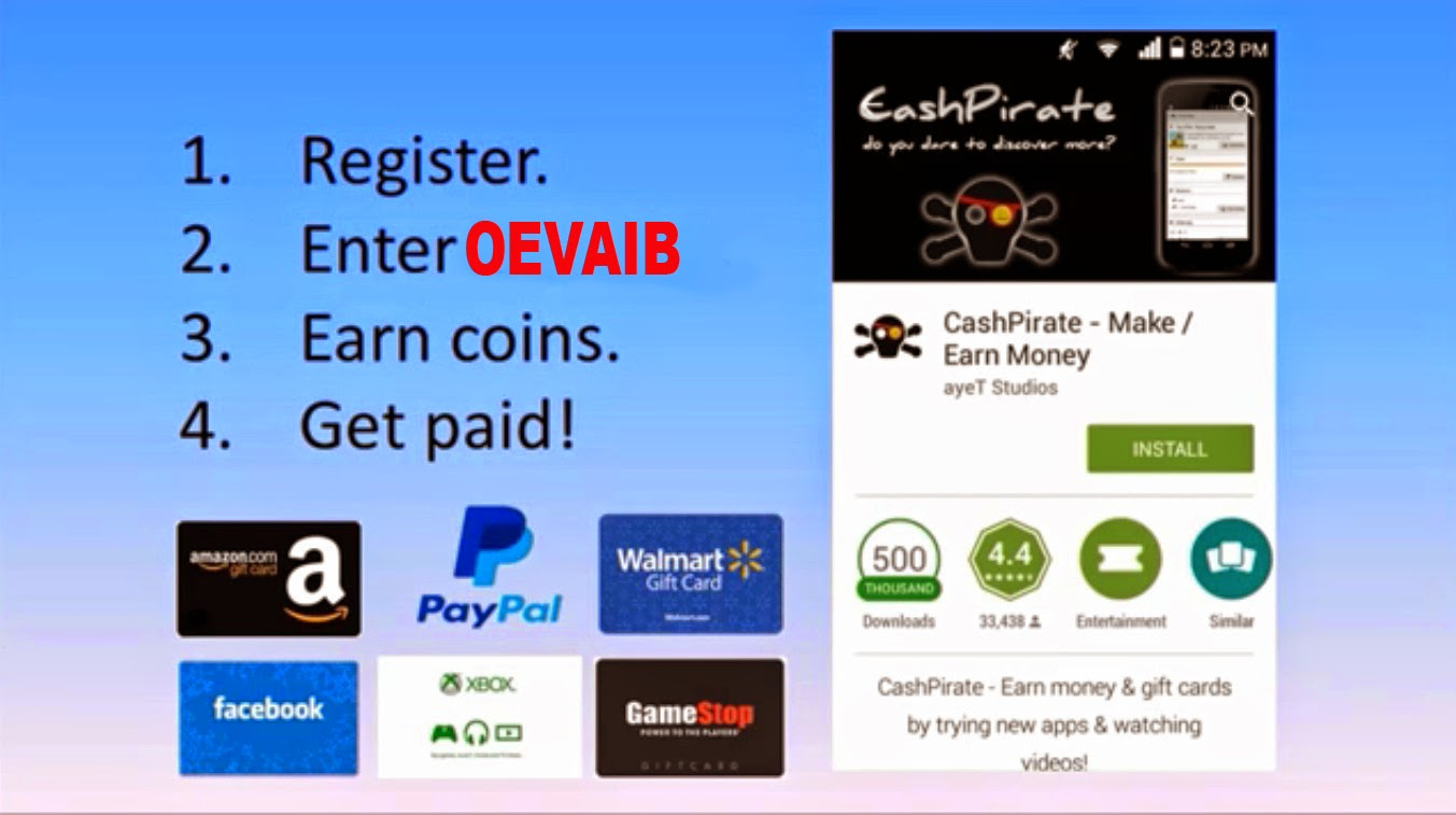 Cash Pirate Earn Paypal Money Free Bitcoins And Amazon