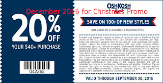 free OshKosh B'gosh coupons for december 2016