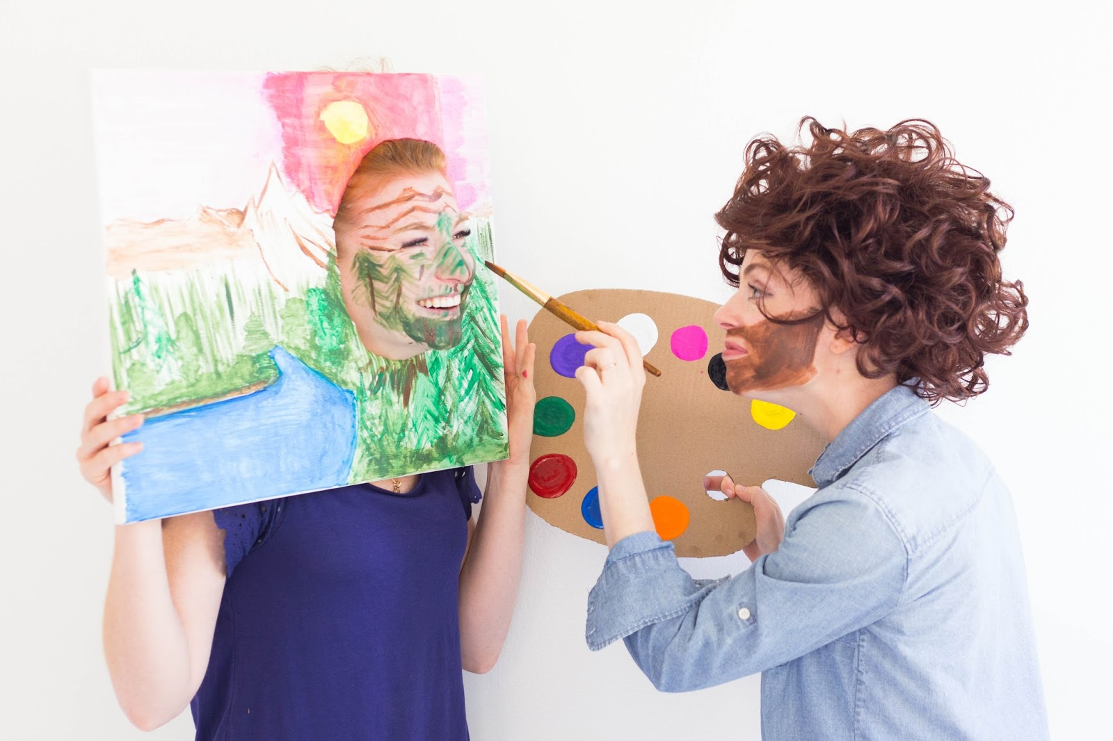 Do it yourself divas diy bob ross halloween costume with happy halloween costume ideas for best friends couples sisters brothers duos solutioingenieria Choice Image