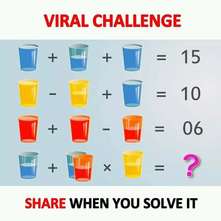 Can You Solve This Viral Math Puzzle That Is Boggling: Blue Glass, Red Glass, Yellow Glass Viral Challenge