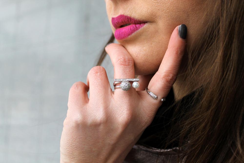 anelli minimal argento