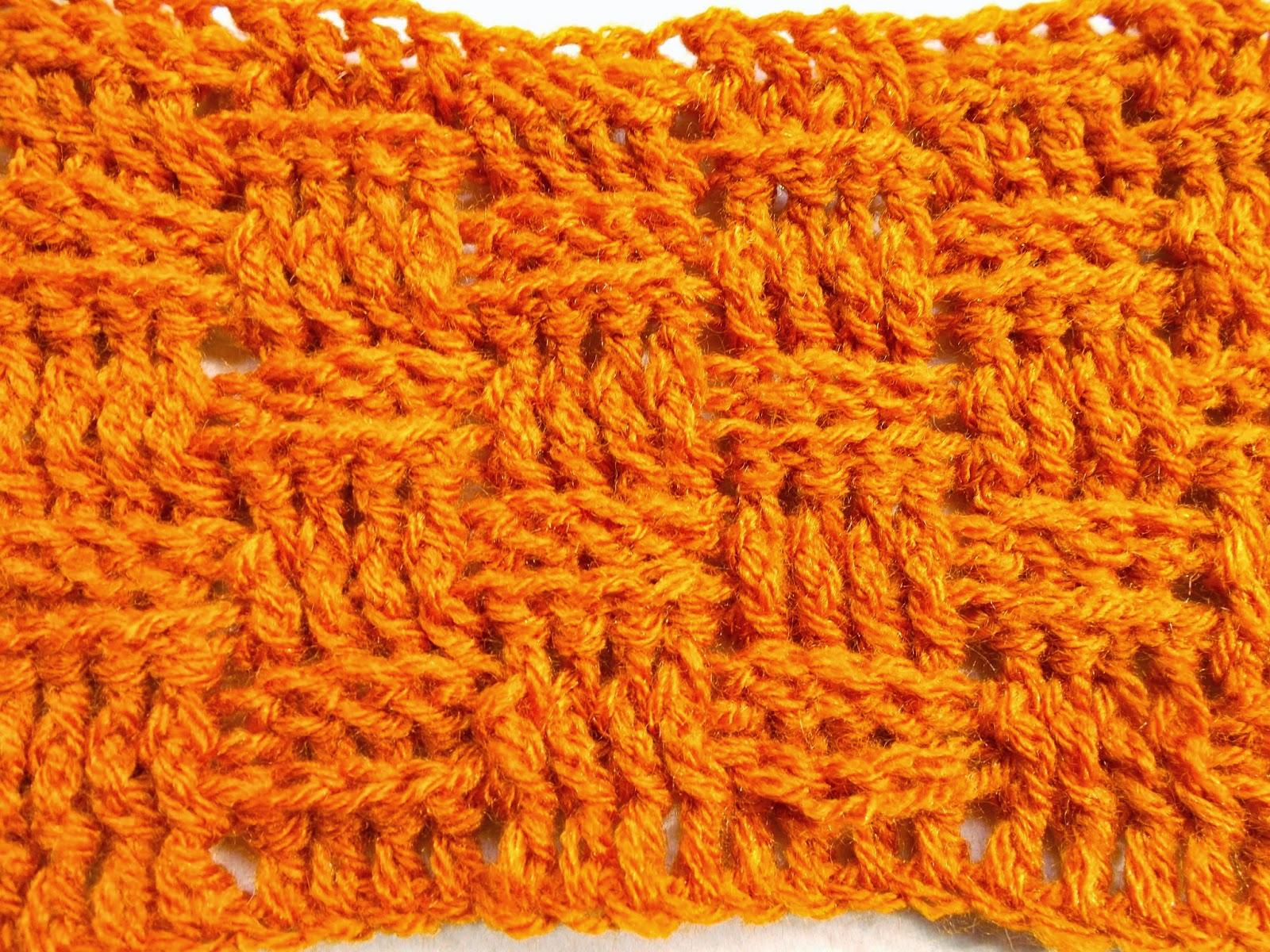 free crochet scarf pattern, free crochet wicker scarf pattern, free crochet basket weave pattern