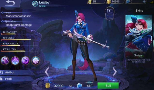 Cara Mengalahkan Hero Lesley di Mobile Legends  Begini Cara Mengalahkan Hero Lesley di Mobile Legends