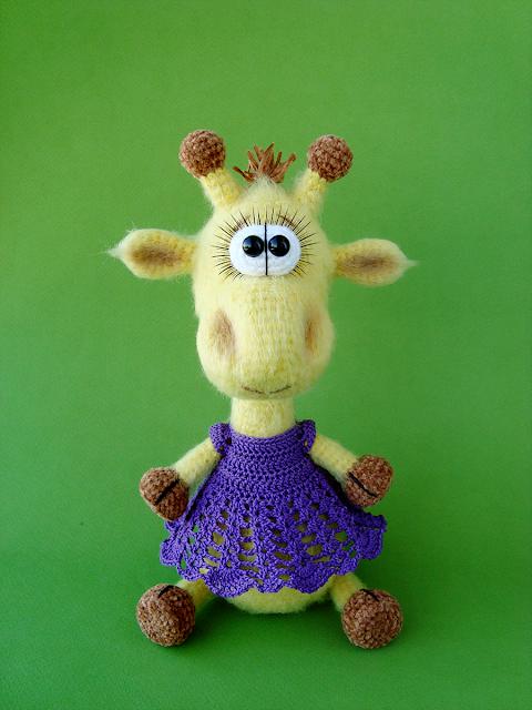 жираф, жирафик, игрушки крючком
