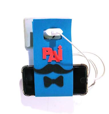 Porta Carregador de Celular Dia dos Pais