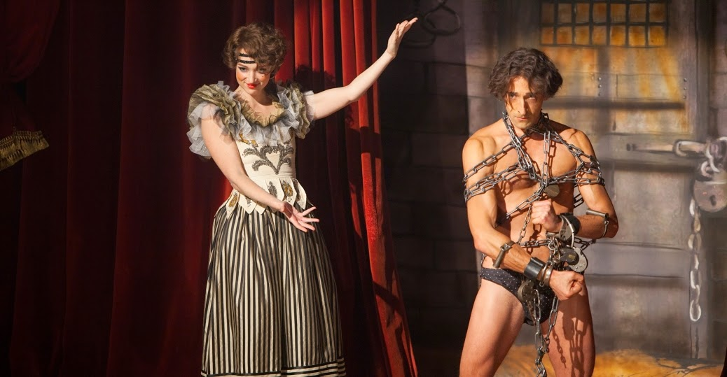 Adrien Brody and Kristen Connolly as Harry Houdini and his wife Bess Houdini in History Channel TV Mini-Series Houdini