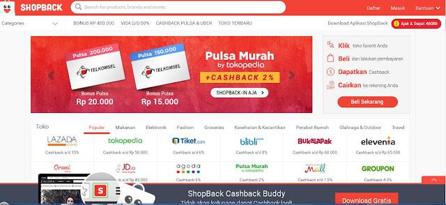 "Revolusi Belanja Online Melalui Shopback ""Dapetin Cashback Plus Voucher Sekaligus"", Belanja Cermat dan Hemat? ShopBack-in Aja"