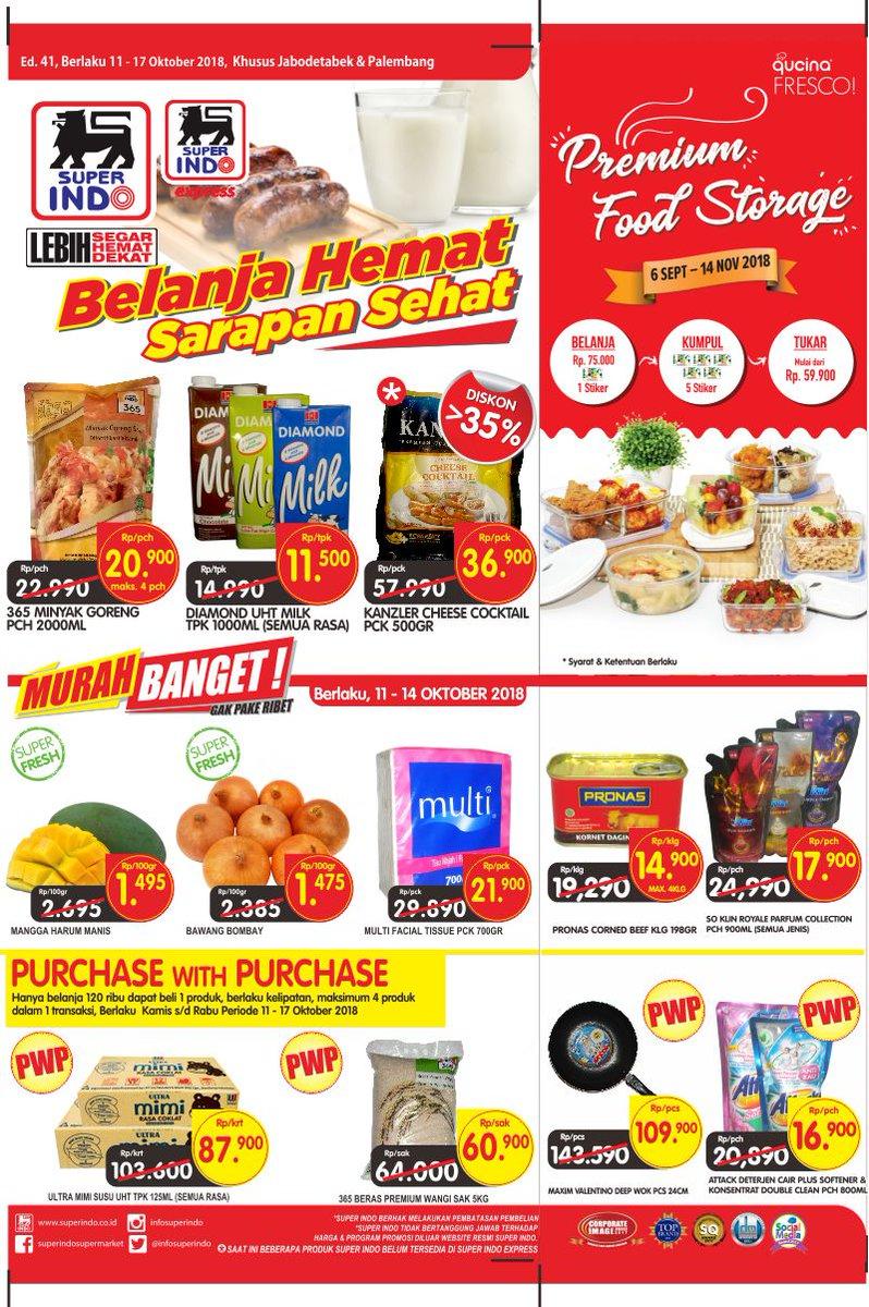 Superindo - Promo Belanja Hemat Sarapan Sehat Periode 11 - 17 Okt 2018