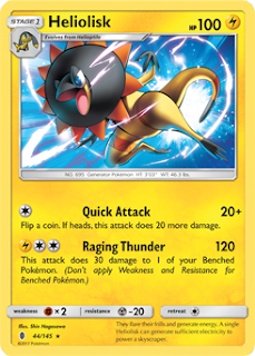 Heliolisk Guardians Rising Pokemon Card