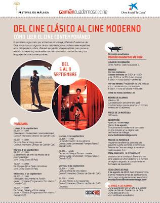 Seminario Festival de Málaga: Del cine clásico al cine moderno