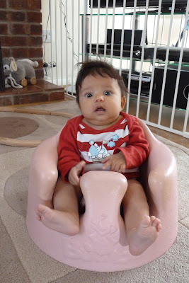 Children in a Bumbo seat