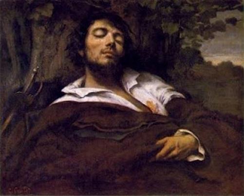 O-homem-ferido, pintura de Gustave Courbet.