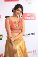 Harshika Ponnacha in orange blouuse brown skirt at Mirchi Music Awards South 2017 ~  Exclusive Celebrities Galleries 003.JPG