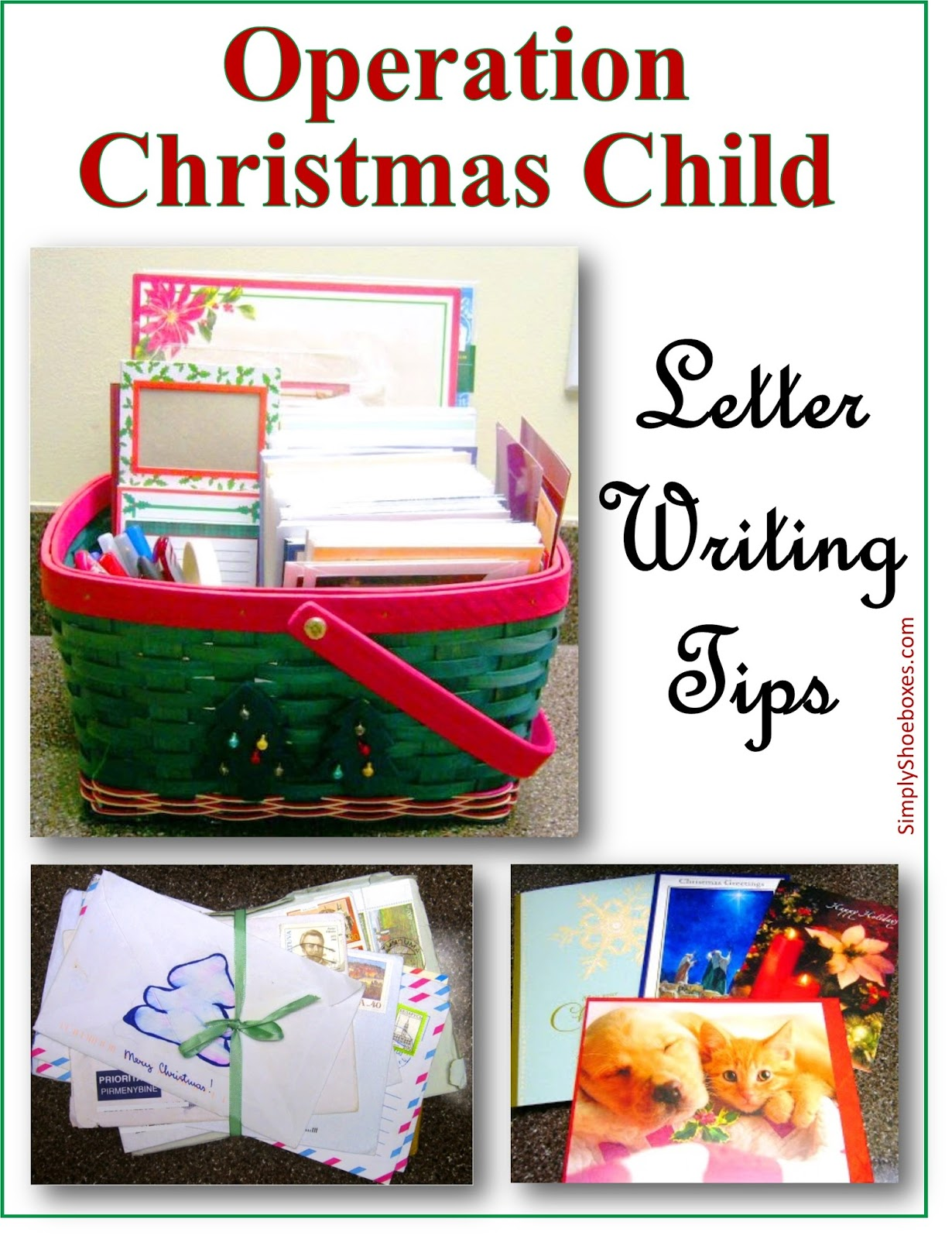 simply shoeboxes tips on writing a letter to include in your