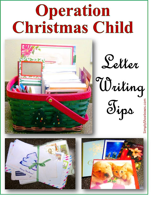 How to write a letter to include in an Operation Christmas Child shoebox.