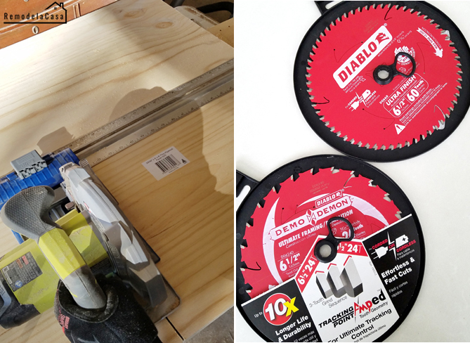 Circular saw with Diablo tools blade