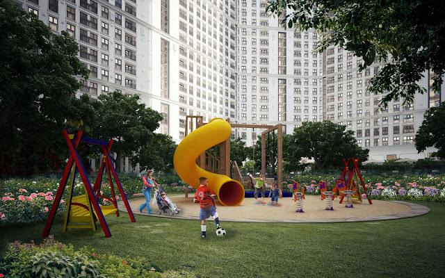 Khuôn viên vui chơi dành riêng cho các bé tại The Emerald